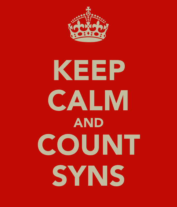 KEEP CALM AND COUNT SYNS
