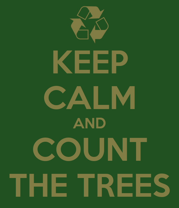 KEEP CALM AND COUNT THE TREES