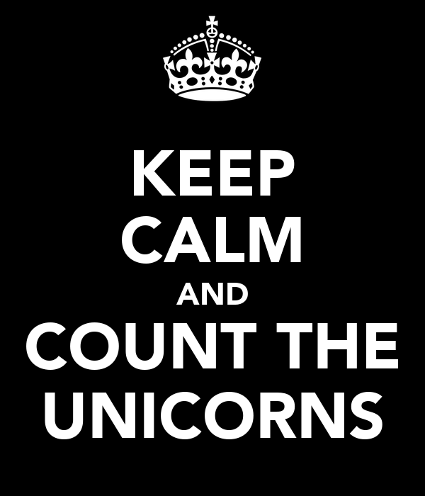 KEEP CALM AND COUNT THE UNICORNS