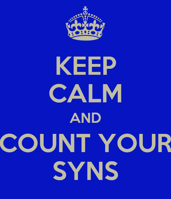 KEEP CALM AND COUNT YOUR SYNS