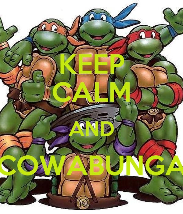 KEEP CALM AND COWABUNGA