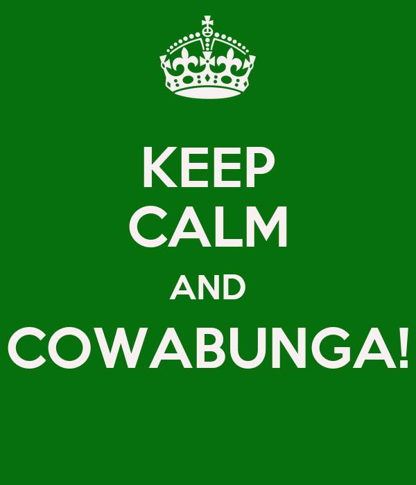 KEEP CALM AND COWABUNGA!