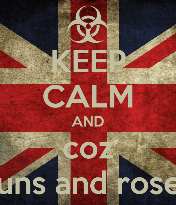 KEEP CALM AND coz guns and roses