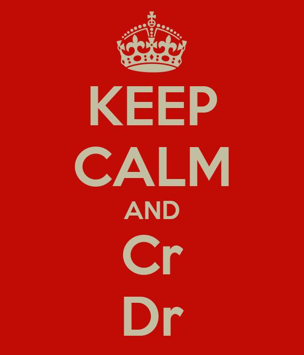 KEEP CALM AND Cr Dr