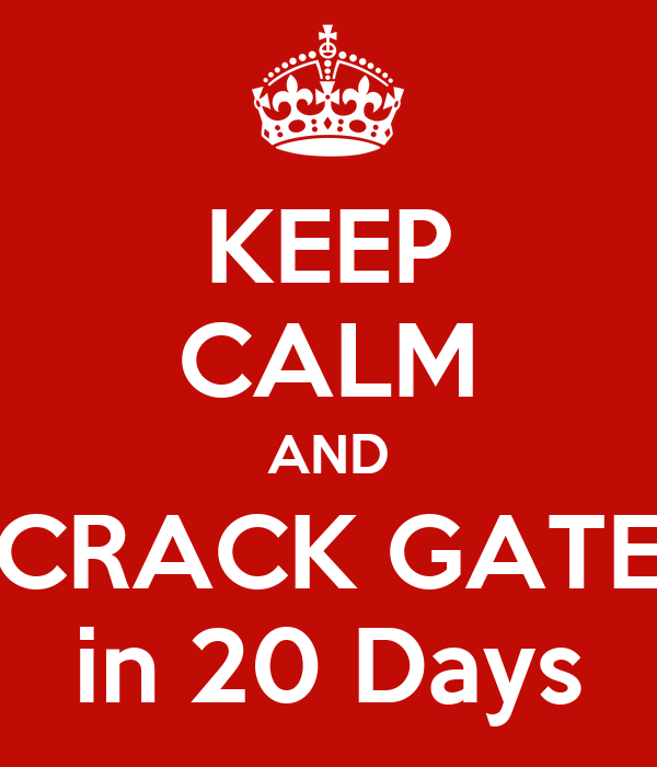KEEP CALM AND CRACK GATE in 20 Days