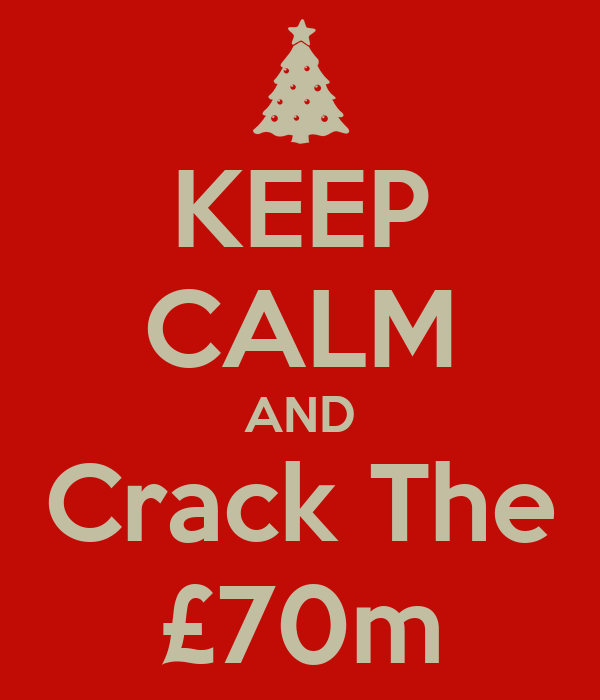 KEEP CALM AND Crack The £70m