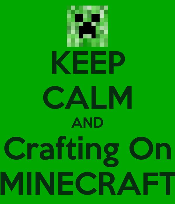 Minecraft Crafting Poster