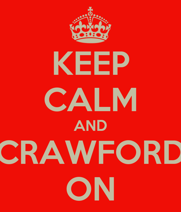KEEP CALM AND CRAWFORD ON