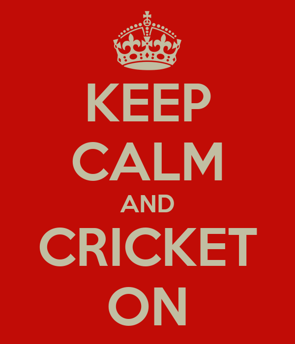 KEEP CALM AND CRICKET ON