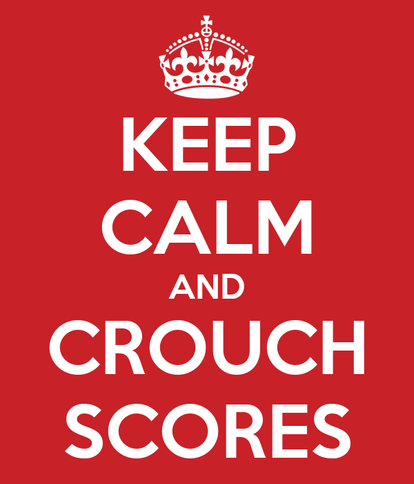 KEEP CALM AND CROUCH SCORES