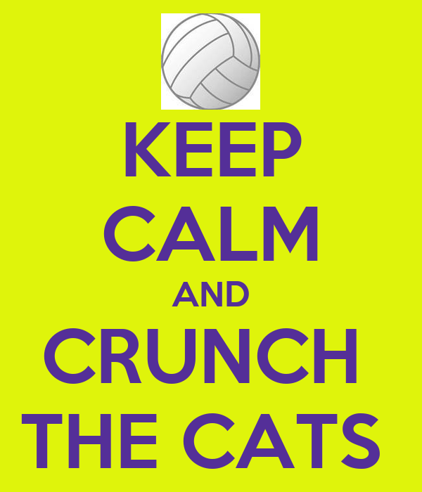 KEEP CALM AND CRUNCH  THE CATS