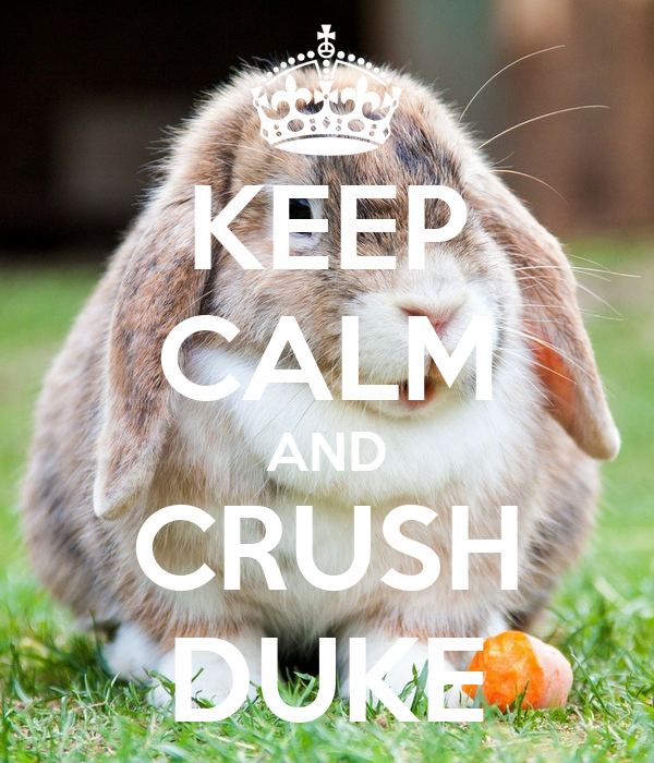 KEEP CALM AND CRUSH DUKE