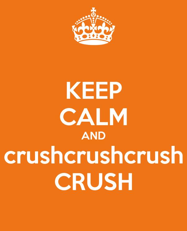 KEEP CALM AND crushcrushcrush CRUSH