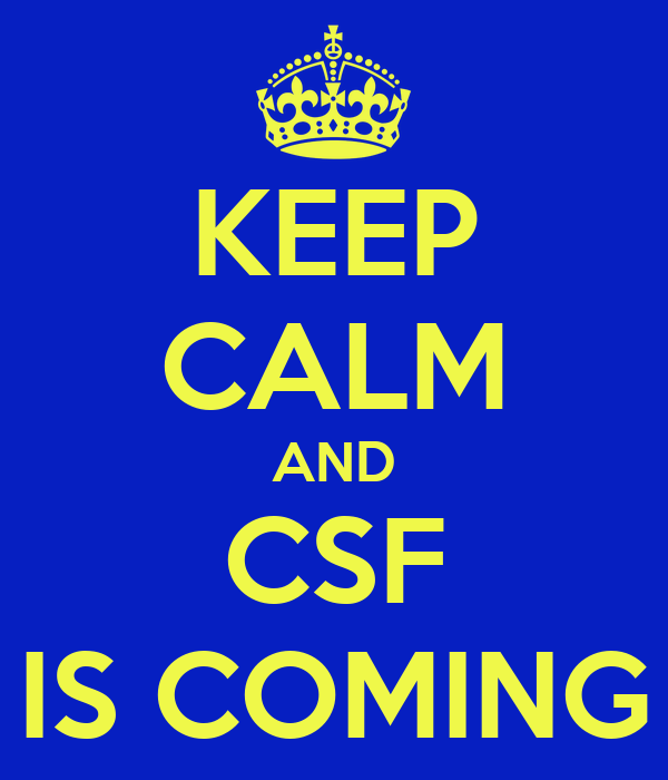 KEEP CALM AND CSF IS COMING