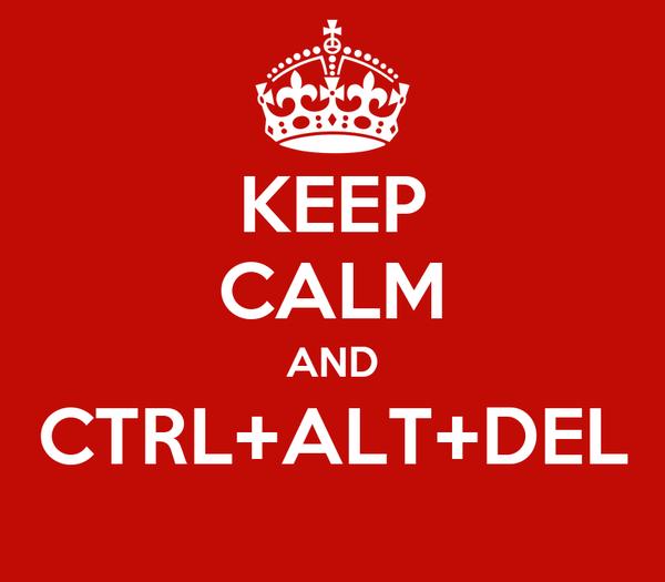 KEEP CALM AND CTRL+ALT+DEL