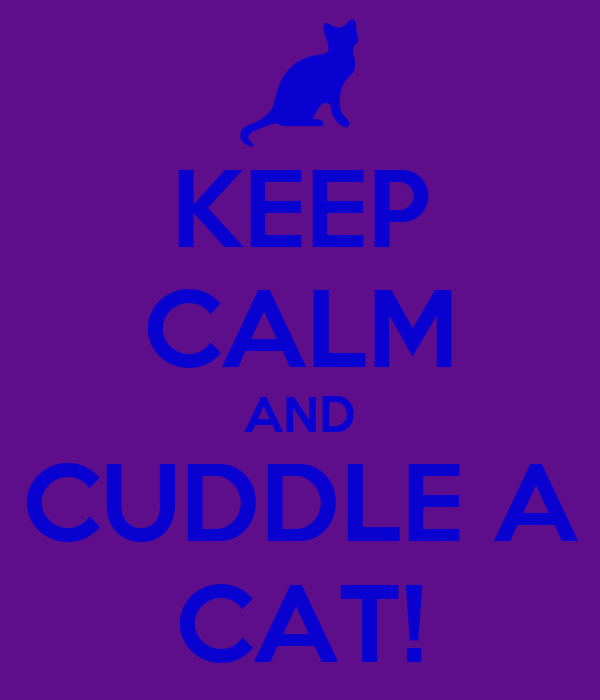 KEEP CALM AND CUDDLE A CAT!