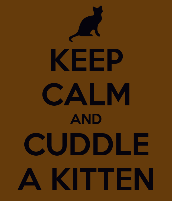 KEEP CALM AND CUDDLE A KITTEN