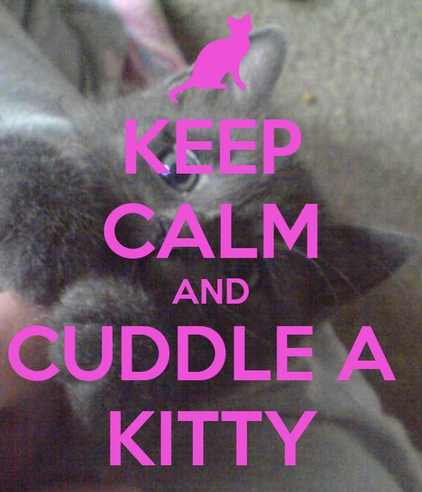 KEEP CALM AND CUDDLE A  KITTY