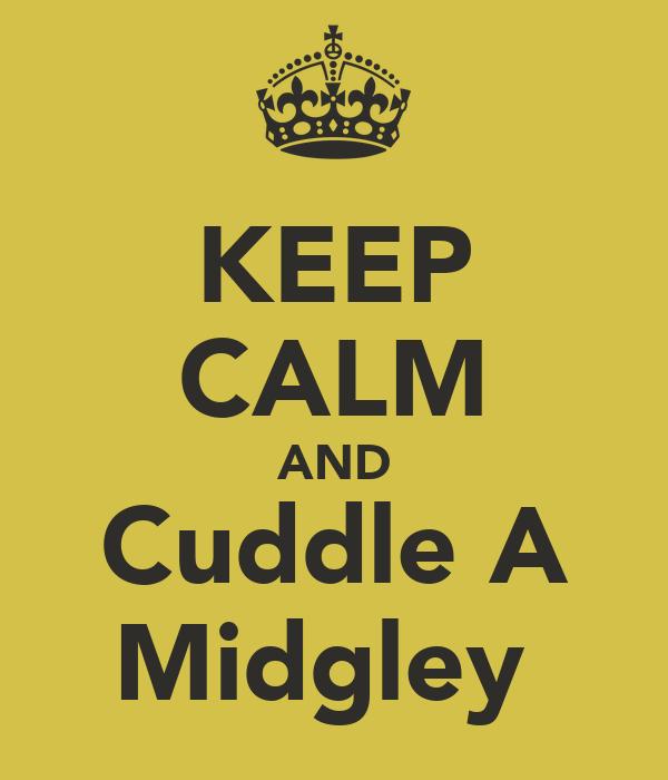KEEP CALM AND Cuddle A Midgley
