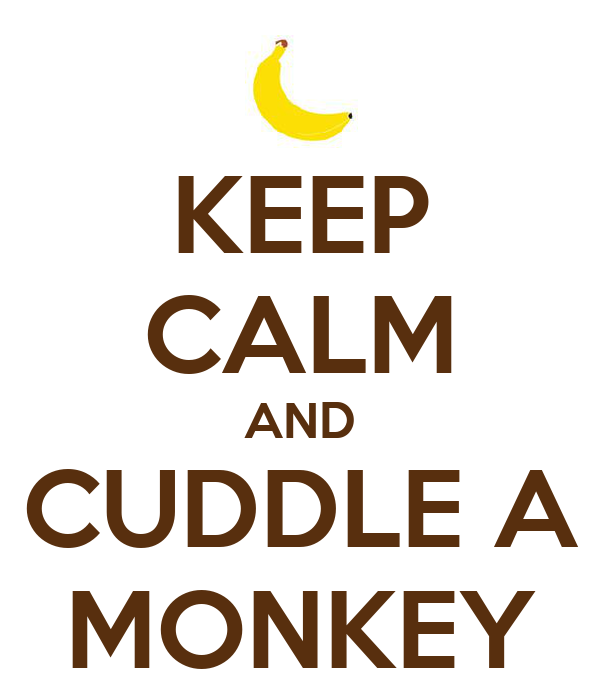 KEEP CALM AND CUDDLE A MONKEY