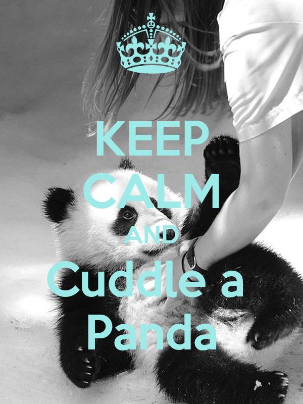 KEEP CALM AND Cuddle a  Panda
