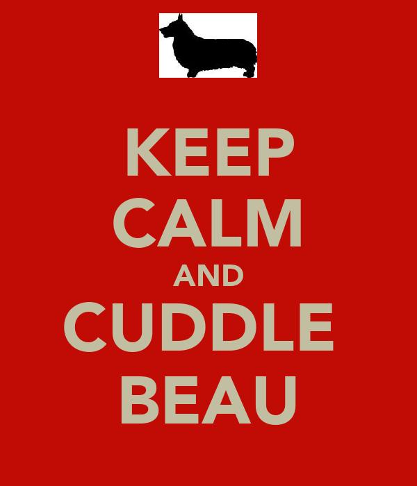 KEEP CALM AND CUDDLE  BEAU