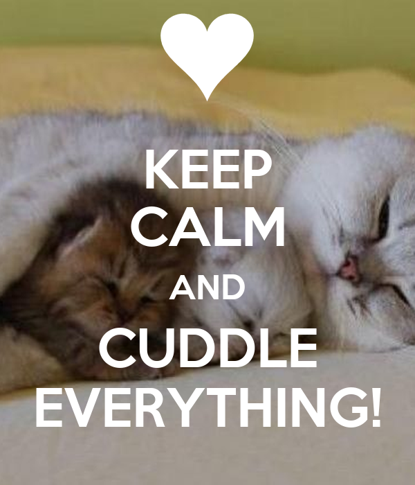 KEEP CALM AND CUDDLE EVERYTHING!