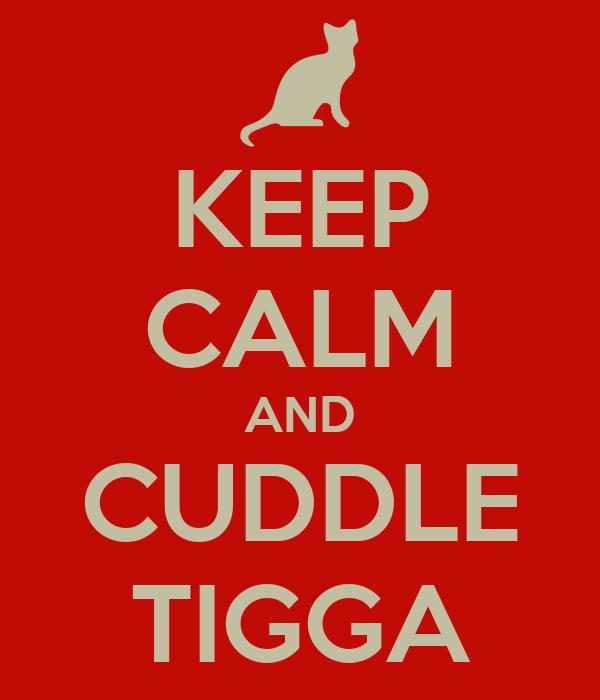 KEEP CALM AND CUDDLE TIGGA