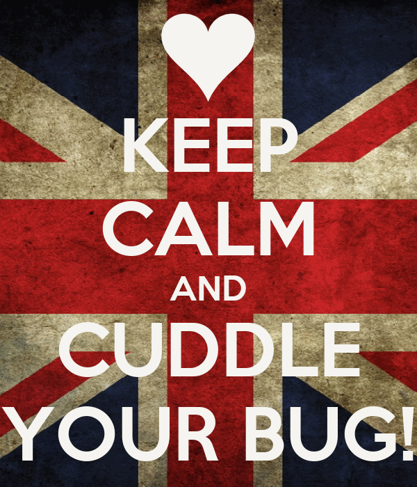 KEEP CALM AND CUDDLE YOUR BUG!
