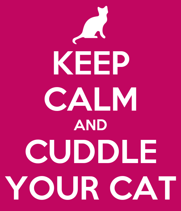 KEEP CALM AND CUDDLE YOUR CAT