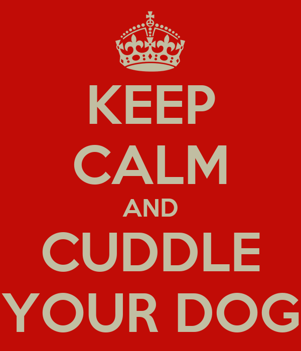 KEEP CALM AND CUDDLE YOUR DOG
