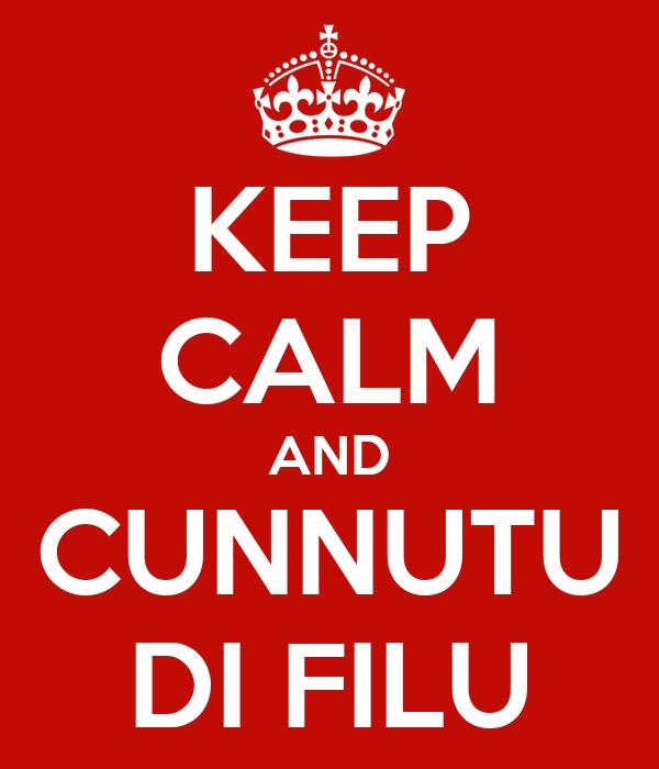 KEEP CALM AND CUNNUTU DI FILU