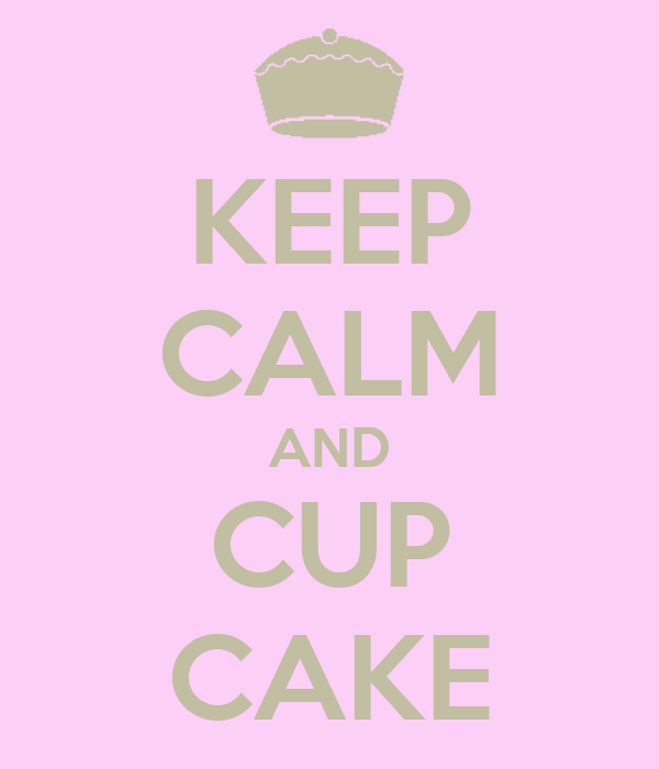 KEEP CALM AND CUP CAKE