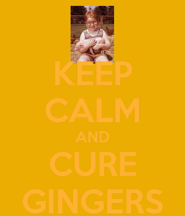 KEEP CALM AND CURE GINGERS
