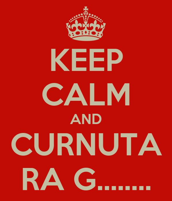 KEEP CALM AND CURNUTA RA G........