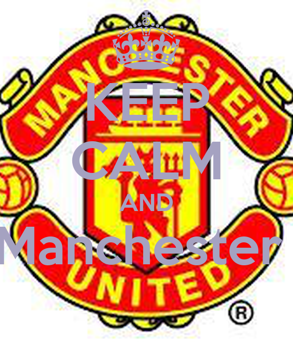 KEEP CALM AND Curta Manchester united