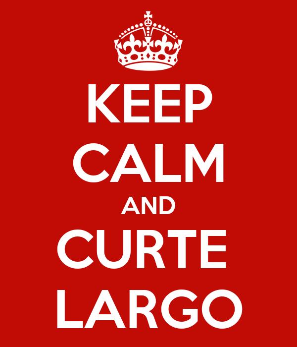 KEEP CALM AND CURTE  LARGO
