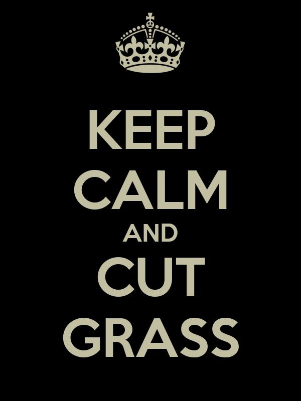 KEEP CALM AND CUT GRASS