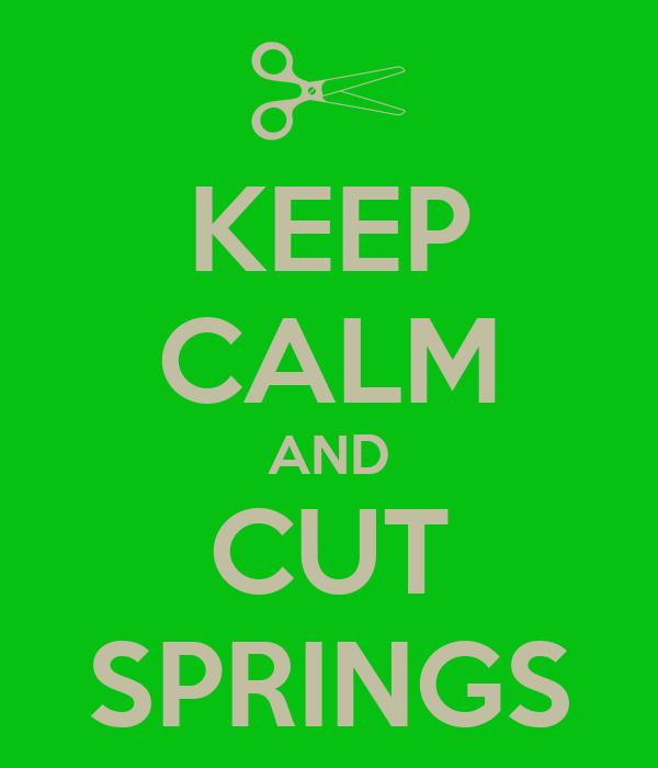 KEEP CALM AND CUT SPRINGS