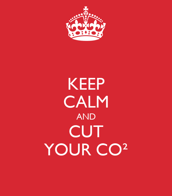 KEEP CALM AND CUT YOUR CO²