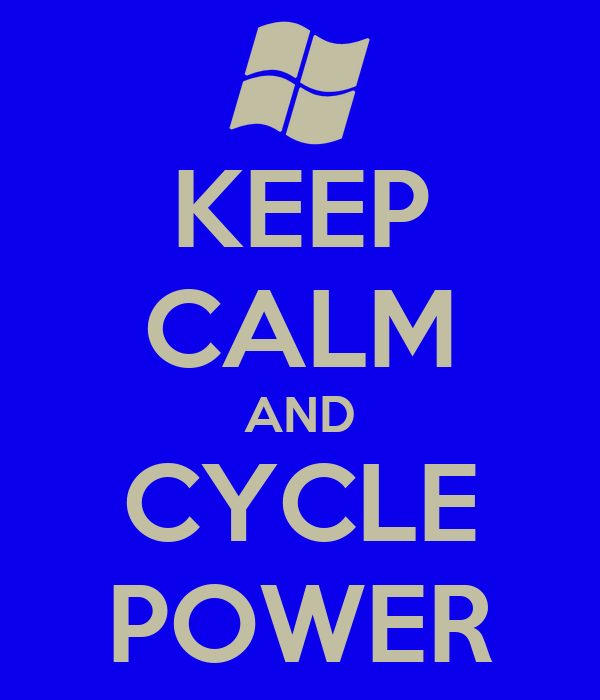 KEEP CALM AND CYCLE POWER