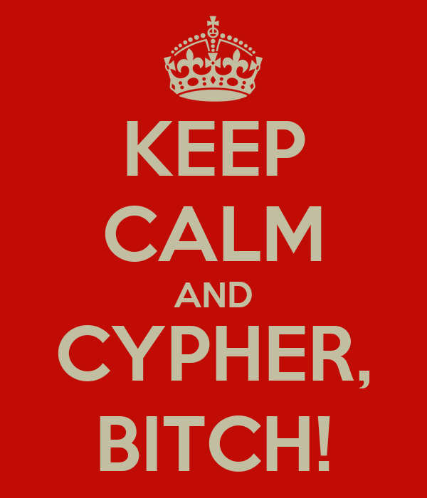 KEEP CALM AND CYPHER, BITCH!