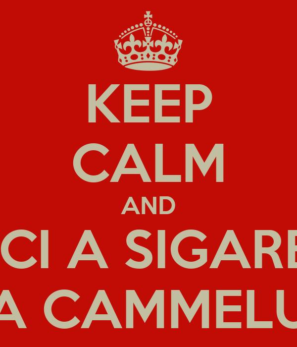 KEEP CALM AND DACCI A SIGARETTA A CAMMELU