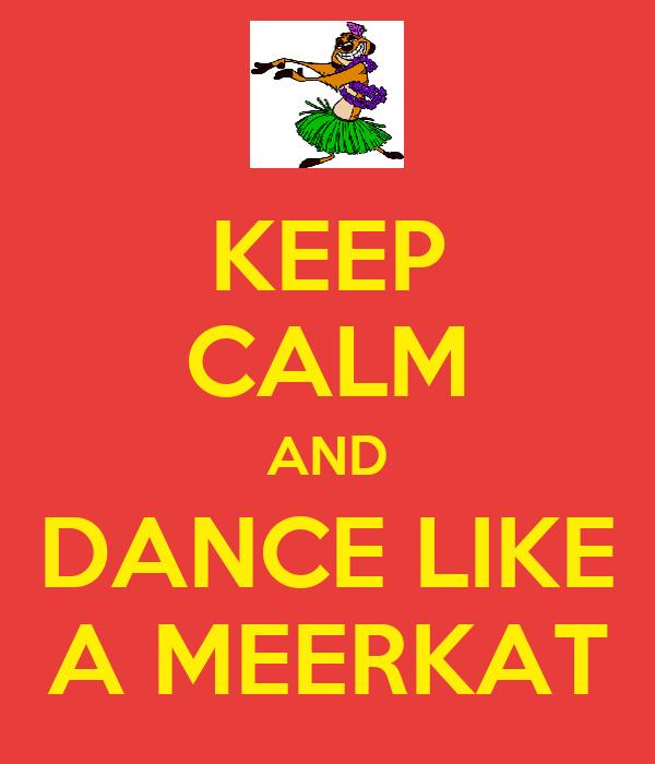 KEEP CALM AND DANCE LIKE A MEERKAT