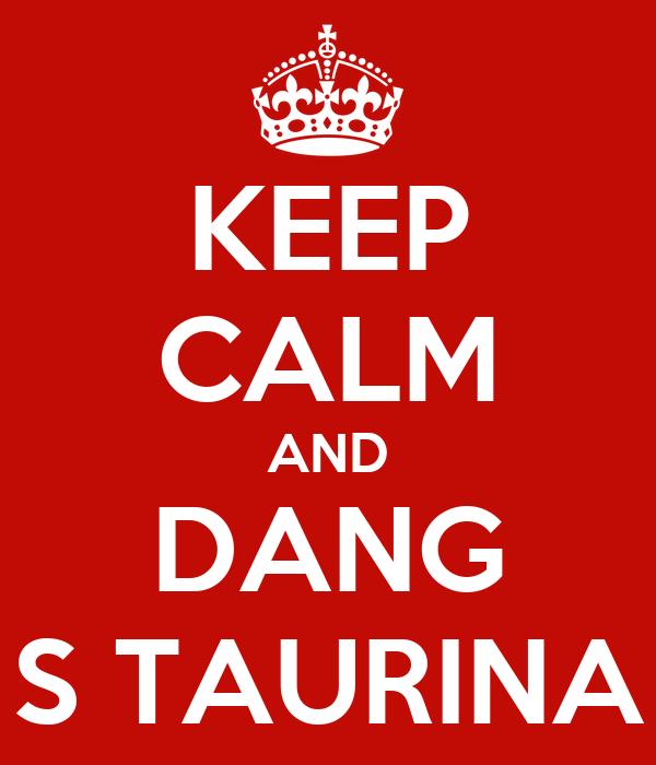 KEEP CALM AND DANG S TAURINA