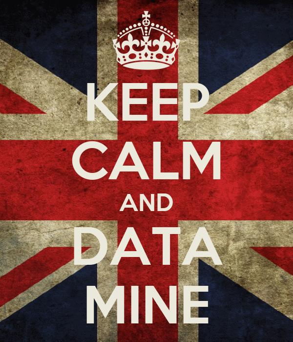 KEEP CALM AND DATA MINE