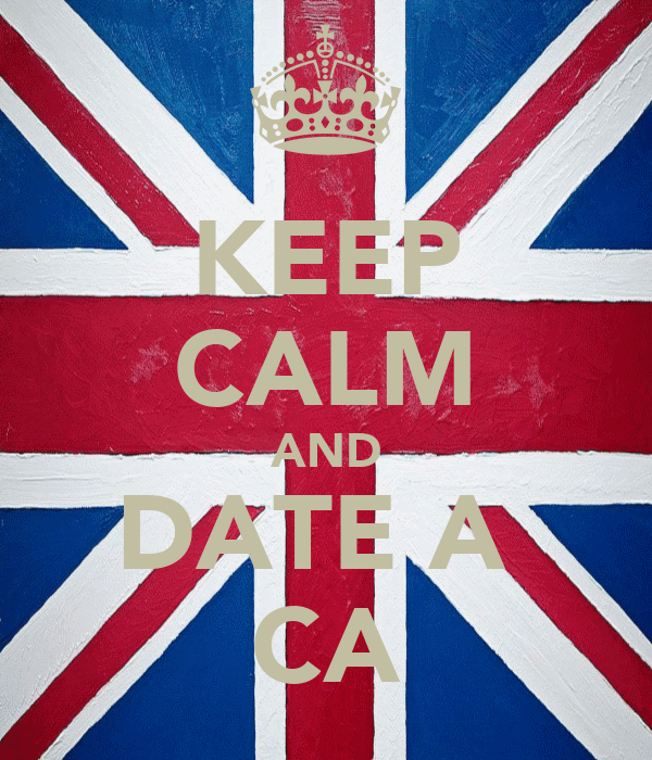 KEEP CALM AND DATE A  CA