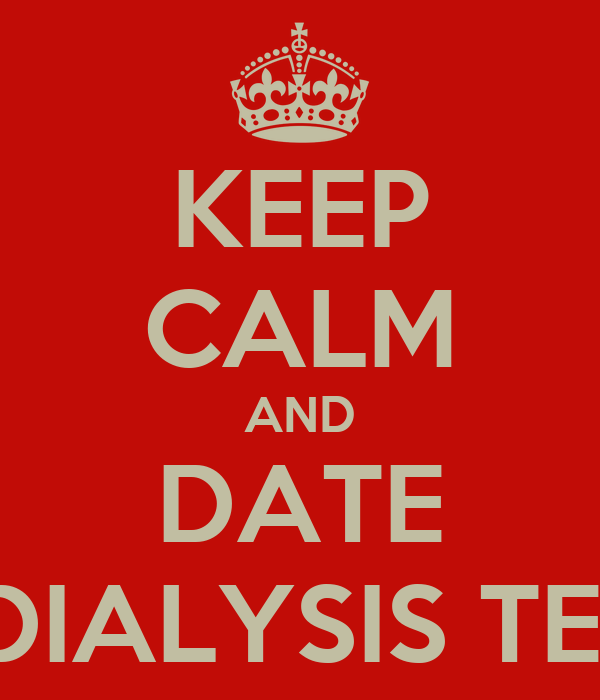 Dating someone on dialysis