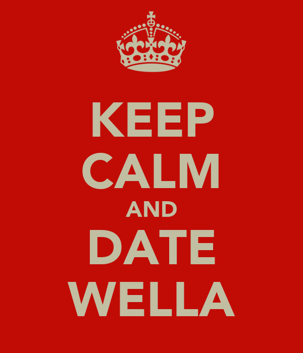KEEP CALM AND DATE WELLA