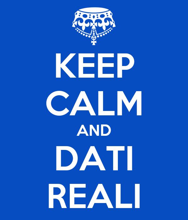 KEEP CALM AND DATI REALI